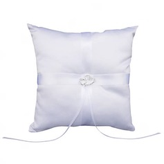 Ring Pillow in Satin With Rhinestones (103018267)
