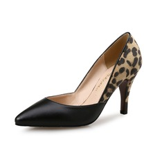 Women's Stiletto Heel Pumps Closed Toe With Animal Print shoes (085095331)