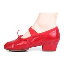 Женщины Натуральня кожа На каблуках Балет Танец живота с бантом Обувь для танцев (053103665)