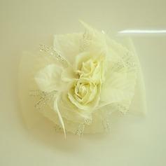 Дамы Красивая чистая пряжа/шелковые цветы лоб ювелирные изделия/шляпа (042143678)