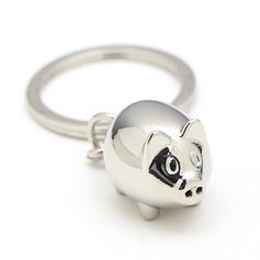 Персонализированные милое животное Нержавеющая сталь Брелки (051204436)