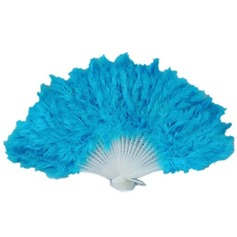 Elegant Plastic/Feather Hand fan (Set of 4) (051046542)