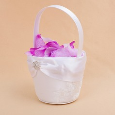 Beautiful Flower Basket in Satin With Embroidery (102018083)