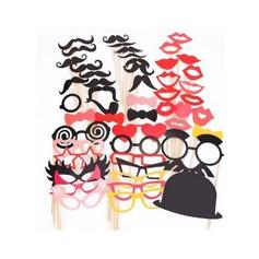 Fotocabine rekwisieten Kaart Papier (50 stuks) Grappig Masker Fotocabine rekwisieten Bruiloftsversiering (131085888)