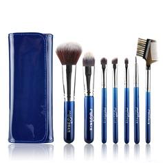Искусственный волокна Мода 7Pcs синий мешочек Поставка косметики (046074569)