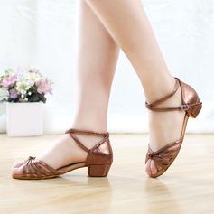 Женщины кожа На каблуках Латино Обувь для танцев (053115124)
