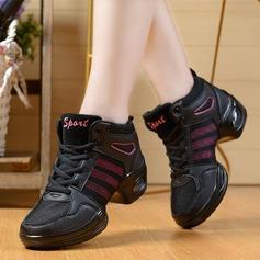 Женщины ткань Танцевальные кроссовки Танцевальные кроссовки с Шнуровка Обувь для танцев (053106472)