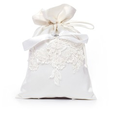 Elegant Satin mit Nachahmungen von Perlen/Spitze Braut Geld-Beutel (012029650)