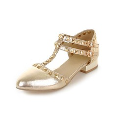 Konstläder Flat Heel Platta Skor / Fritidsskor Stängt Toe med Spänne skor (086048676)
