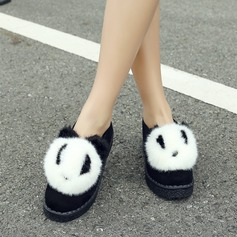 Women's Suede Flat Heel Flats Closed Toe With Fur shoes (086145726)