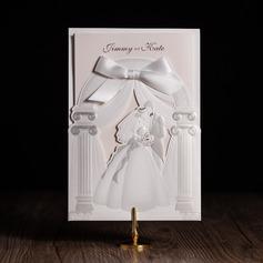 Personalizado Bride & Groom Estilo e do bolso Cartões de convite com Curvado (Conjunto de 50) (114084664)