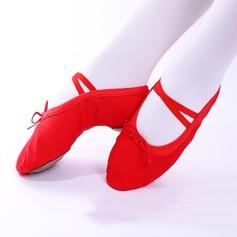 Женщины Холст На плокой подошве Балет Обувь для танцев (053111523)