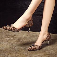 Женщины Замша кожа Высокий тонкий каблук На каблуках Закрытый мыс с Другие обувь (085153085)