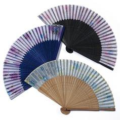 Цветочный дизайн бамбук/Шелковые стороны вентилятора (набор из 4) (051052609)
