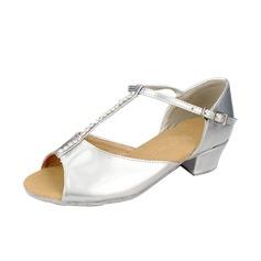 Детская обувь кожа На каблуках Сандалии Латино с Т-ремешок Обувь для танцев (053058442)
