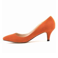 Femmes Suède Talon kitten Escarpins Bout fermé chaussures (085059022)