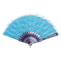 Elegant Plastic/Lace Hand fan (Set of 4) (051052065)