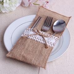 Dejligt Linned Bestik Bag (Sæt af 6) (051063408)