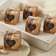 Cubi Papel Kraft Caixas do Favor com Corda de linho (conjunto de 12) (050150619)