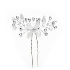 Дамы великолепный хрусталь/Перлы ложный заколки с искусственный жемчуг/хрусталь (Продается в виде единой детали) (042148467)