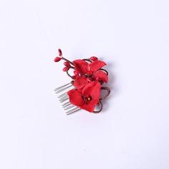 Элегантные горный хрусталь/шелковые цветы Комбс и заколки (042063456)