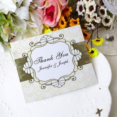 Personaliseret Blomst udformning Papir Takkekort (Sæt af 50) (118032220)