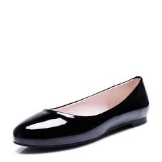 Женщины кожа Плоский каблук На плокой подошве Закрытый мыс обувь (086124734)