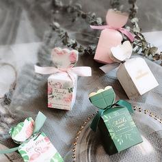 Довольно цветочная тема/Ницца Конфеты образный картона бумаги Фавор коробки и контейнеры с Ленты (набор из 20) (050203410)