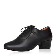 Мужская Натуральня кожа Латино Современный Бальные танцы качать с Шнуровка Обувь для танцев (053146788)