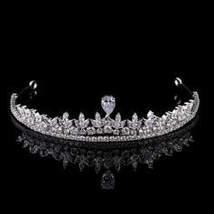 Dame Gorgeous Zirkon Tiaraer med Terningformet Zirkon (Sælges i et enkelt stykke) (042154098)