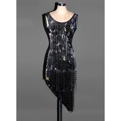 Женщины Одежда для танцев бархат Латино Платья (115091498)