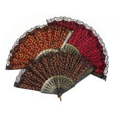 Леопарда дизайн пластиковые/ткань стороны вентилятора (набор из 4) (051055114)