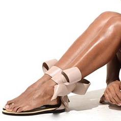 Женщины PU Плоский каблук Сандалии На плокой подошве Открытый мыс с бантом обувь (087157092)