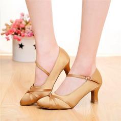 Женщины Атлас На каблуках Сандалии Бальные танцы качать с пряжка Обувь для танцев (053108038)