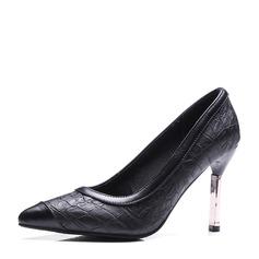 Женщины кожа Высокий тонкий каблук На каблуках Закрытый мыс с Другие обувь (085153080)
