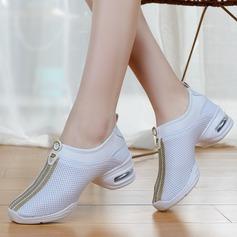 Женщины ткань Танцевальные кроссовки Танцевальные кроссовки Обувь для танцев (053106483)