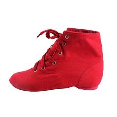 Женщины Холст На плокой подошве Джаз Обувь для танцев (053076377)