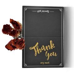 современный стиль Боковой складкой Спасибо карты (набор из 50) (114205154)