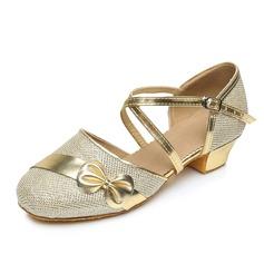 Детская обувь кожа На каблуках На каблуках Бальные танцы с Ремешок на щиколотке Обувь для танцев (053092247)