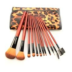 1 Iøjnefaldende 12Pcs Leoparden Taske Makeup Tillbehør (046063288)