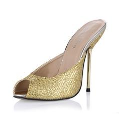 Glittrande Glitter Stilettklack Sandaler Pumps Slingbacks skor (087053015)