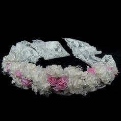 Дети стильный Искусственного шелка/Кружева Девушки цветка Головной убор (042025244)