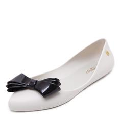 Kvinner PVC Flate sko Lukket Tå med Bowknot sko (086165230)