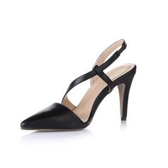 Similpelle Tacchi a cono Stiletto Punta chiusa Con cinturino scarpe (085026441)
