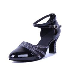 Женщины кожа На каблуках На каблуках Бальные танцы с Ремешок на щиколотке Обувь для танцев (053056753)