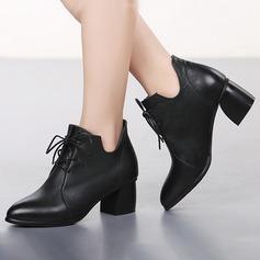 Mulheres Couro verdadeiro Moderno Sapatos de dança (053143403)