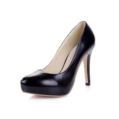 Kunstleer Stiletto Heel Pumps Plateau Closed Toe schoenen (085038557)