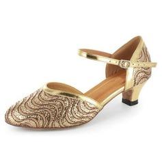 Donna Glitter scintillanti Pelle verniciata Tacchi Stiletto Sala da ballo Scarpe da ballo (053021518)