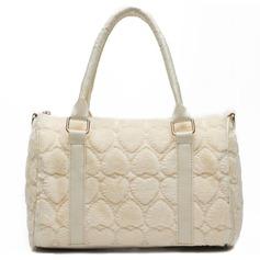 Gorgeous Fjer / Pels med Makeup Taske Mode håndtasker (012059734)
