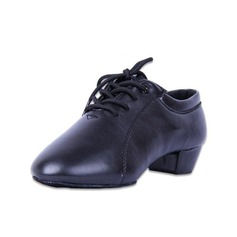 Детская обувь кожа На каблуках Латино Бальные танцы Практика Обувь для Персонала с Шнуровка Обувь для танцев (053056755)